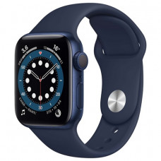 Apple Watch S6 40mm Blue Aluminum Case with Deep Navy Sport Band