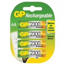 Аккумуляторы GP Rechargeable 2300 mAh AA 4шт.