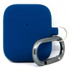 Силиконовый чехол c карабином для AirPods Hang Case Blue