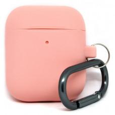 Силиконовый чехол c карабином для AirPods Hang Case Flamingo