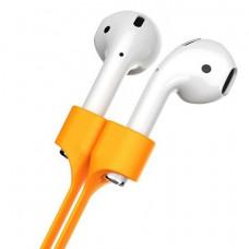 Силиконовые стрэпы для AirPods Baseus Earphone Strap Orange