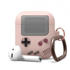 Силиконовый чехол c карабином для AirPods Elago Gameboy Pink