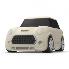 Силиконовый чехол c карабином для AirPods Elago Mini Car White