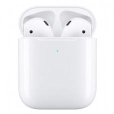 Беспроводные наушники Apple AirPods 2 (MRXJ2AM/A) в футляре с возможностью беспроводной зарядки