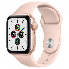 Apple Watch SE 40mm Gold Aluminum Case with Pink Sand Sport Band