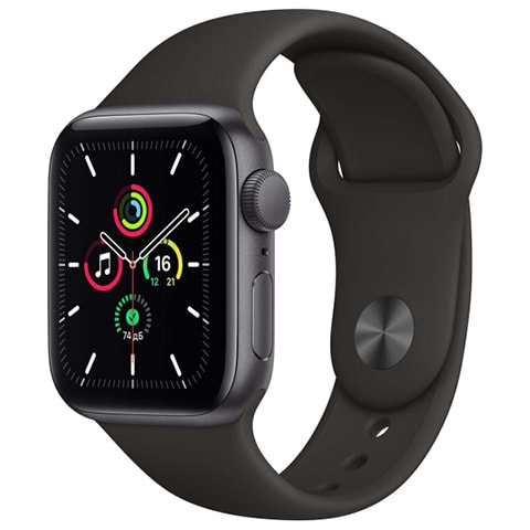 Apple Watch SE 40mm Space Grey Aluminum Case with Black Sport Band
