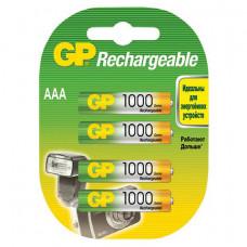 Аккумуляторы GP Rechargeable 1000 mAh AAA 4шт.