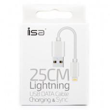 Кабель ISA USB - Lightning 0.25M