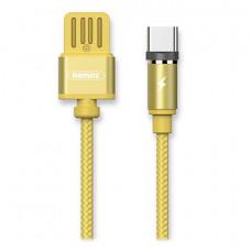 Кабель магнитный Remax Gravity USB - Type-C 1M Gold
