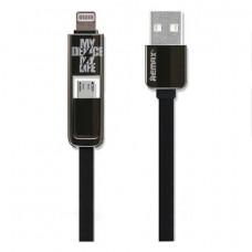 Кабель Remax Transformer USB-A - Lightning/Micro-USB 1M Black