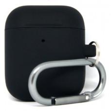 Силиконовый чехол c карабином для AirPods Hang Case Black