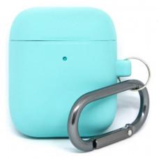 Силиконовый чехол c карабином для AirPods Hang Case Sky Blue