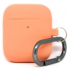 Силиконовый чехол c карабином для AirPods Hang Case Orange