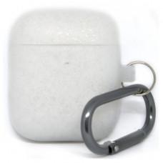 Силиконовый чехол c карабином для AirPods Hang Case Pearl