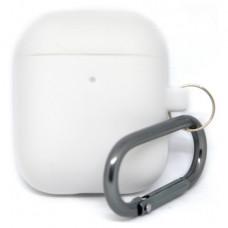 Силиконовый чехол c карабином для AirPods Hang Case White