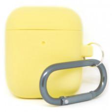 Силиконовый чехол c карабином для AirPods Hang Case Yellow