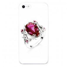 Чехол Colour Printing Drip Ring Ruby для iPhone SE/5S/5