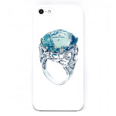 Чехол Colour Printing Drip Ring Topaz для iPhone SE/5S/5